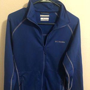 Blue Omni-wick men sports wear jacket